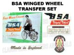 BSA Winged Wheel Transfer Decal Set